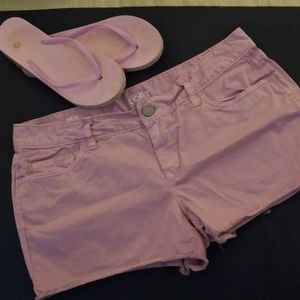 Loft pink cotton short shorts